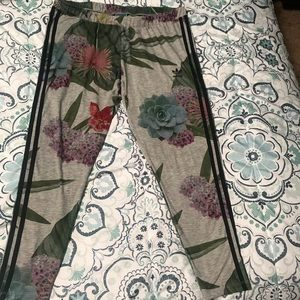 Adidas flowery pants excellent condition.